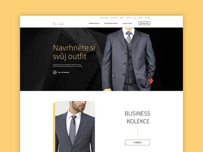 Homepage2 clean minimal tuxedo fashion clothing website webdesign