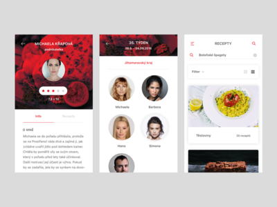 Prostřeno! redesign concept fun cooking design show tv ui ios app mobile redesign prostreno