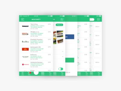 App Screens design ui login cards minimal screen app ios