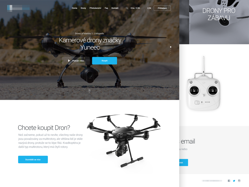 Drone Shop clean design homepage webdesign website shop ecommerce drone