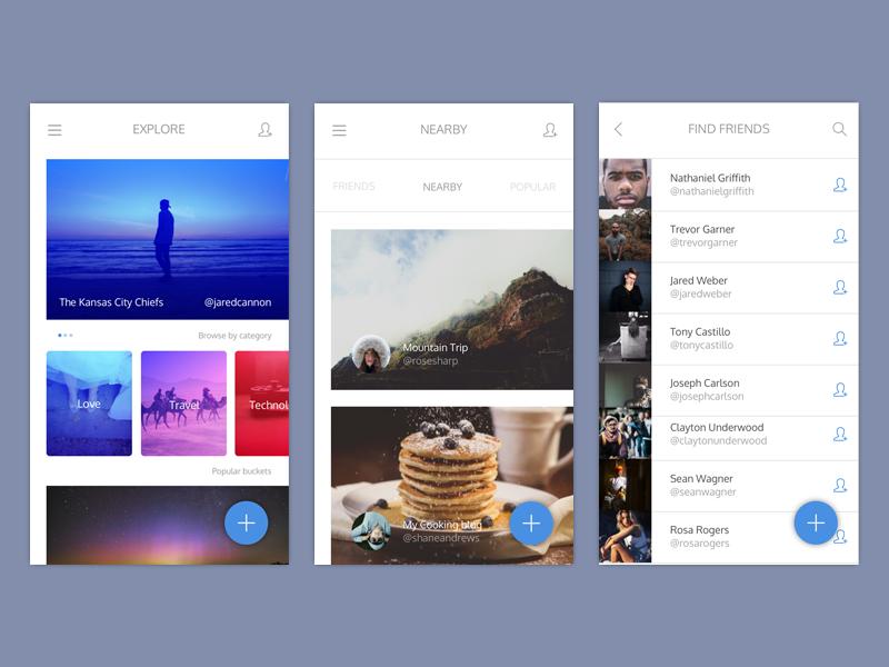 Bucketlist App sketch list screens ux ui bucketlist minimal design mobile app ios