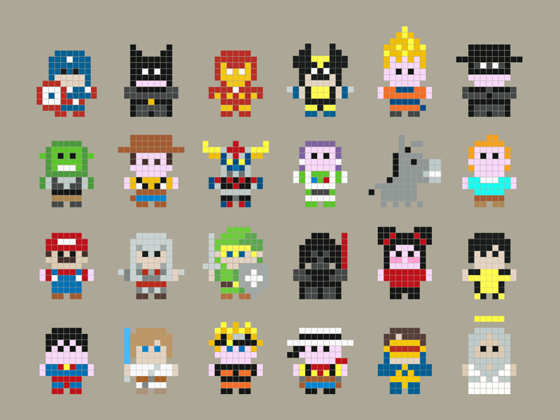 Minimal Pixel Heroes By Tibo On Dribbble