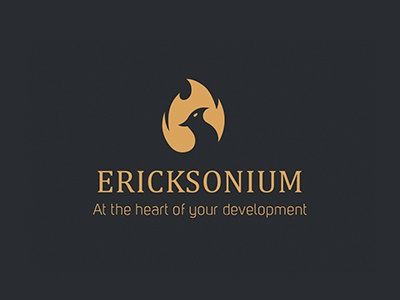 Ericksonium logo bbs concept phœnix