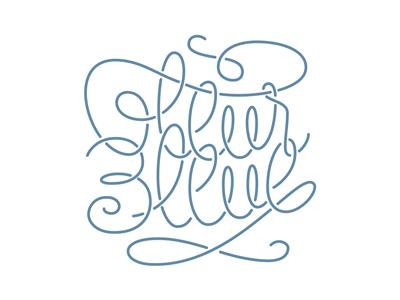 Fleur Bleue fleur bleue blue flower romantic lettering type letter handletter logo logotype