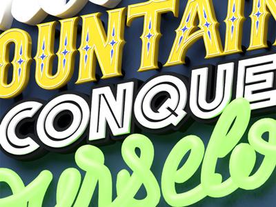 Test 3D letters  font lettering blender 3d letters