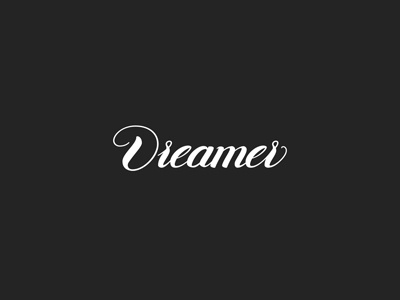Dreamer font calligraphy logotype vector type letters lettering handletters