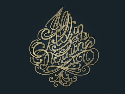 All In Or Nothing ace of spade curves font calligraphy vector type letters lettering handletters