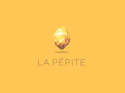 La Pépite vector creation founder co-working brand logo lapepite