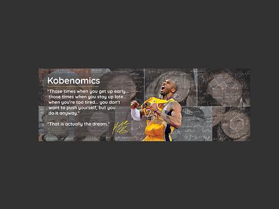 KOBENOMICS artwork color palette illustration logo typography vector sistemo design design branding kobe bryant