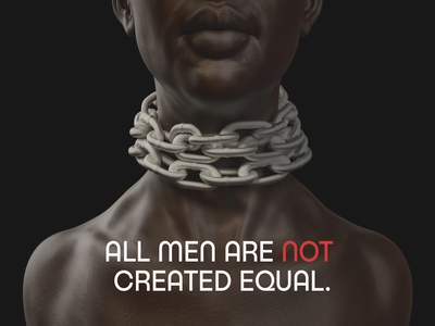all men are NOT created equal vector illustration design abstract blog sistemo design