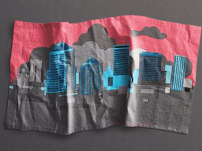 Albuquerque505 branding web design illustration