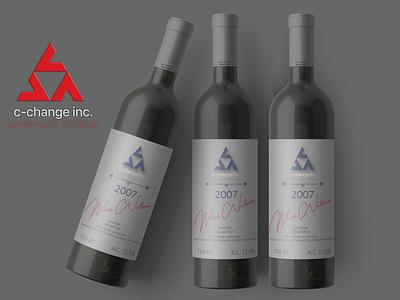 Mock-Up Wine web illustration design branding