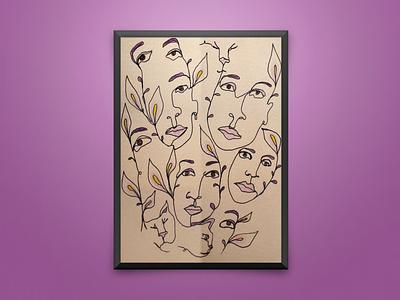 Purple Evanescence sistemo design icon vector design purple color palette poster art artwork art