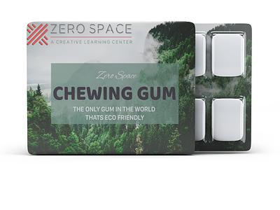 ZERO SPACE chewing gum typography branding illustration design sistemo design zerospace