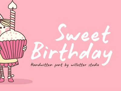 Sweet Birth day Preview design font design handmade branding handlettering handletter