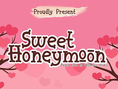 Sweet Honeymoon Preview design logo illustration branding typography vector font design handmade handlettering handletter