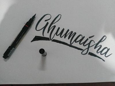 Ghumaisha handletter handmade handlettering