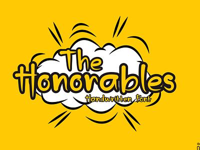 The Honorables Preview illustration handmade branding handlettering handletter font design