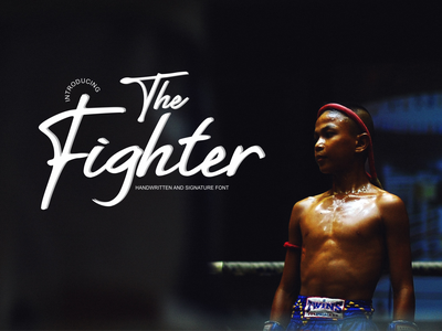 The Fighter vector typography design logo branding font design handlettering handletter