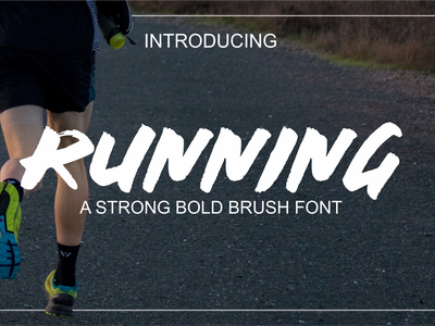 RUNNING BRUSH FONT typography vector handmade branding illustration handlettering font design handletter