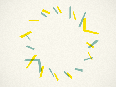 This happened accidentally pattern vintage yellow turquoise circle
