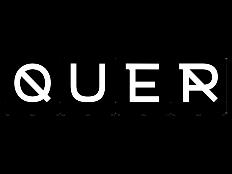 Q U E R sketches type typography letters
