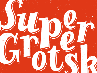 Supergrotesk lettering sketch illustration red serifs