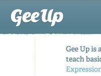 Gee Up Logo