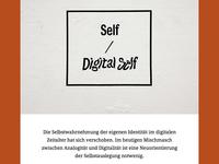 Self / Digital Self Website