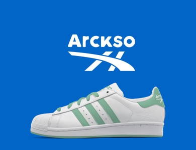 Logo and shoe designing of Arckso.