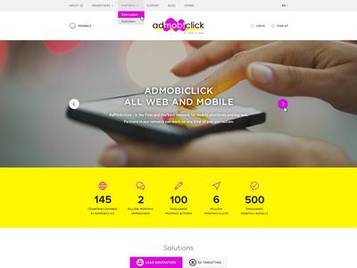 AdMobiClick landing page