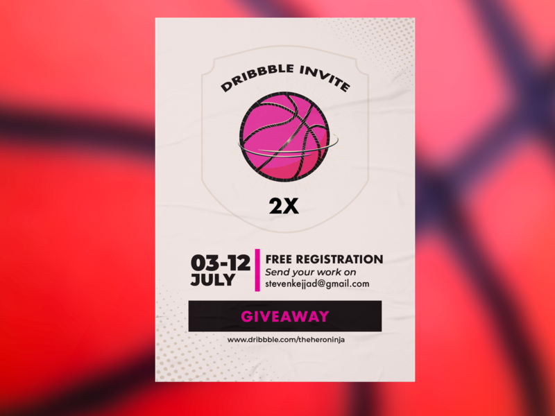 2 Invite Giveaway poster giveaway invitation invite debut