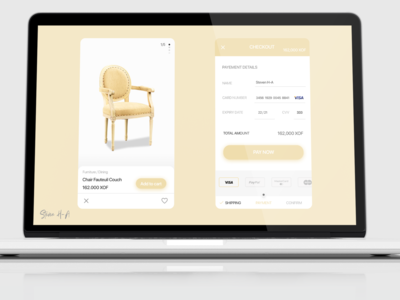 Furniture Shop checkout form #dailyui #002