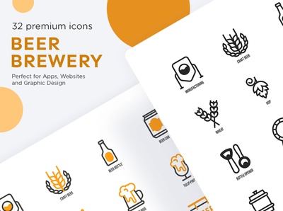 Beer Brewery | 16 icons set