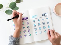 Hotel and Business icons sets