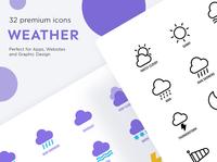 Weather | 32 Premium Icons