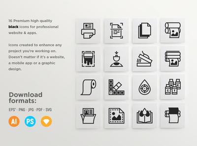 Typography - 32 Premium icons