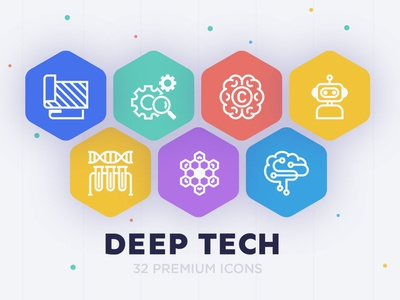 Deep Tech - 32 Premium icons iconography logos logo illustration icons set icons pack sign icon set iconset icons design icon design icon icons tech deep