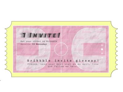 Dribbble invite giveway
