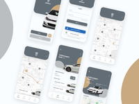 Rental car app interface