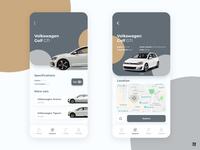 Rental Car App Interface - UI Design