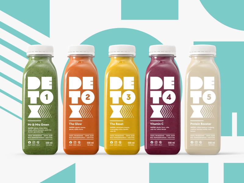 Detox Lineup packaging logo branding