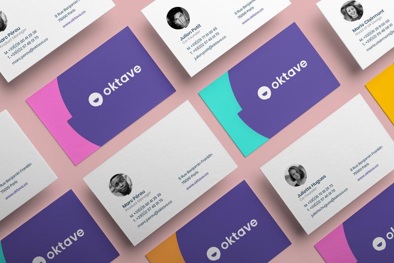 Business Card Oktave business carte de visite print branding and identity branding design color cards card stationery branding visiting cards business card design business card