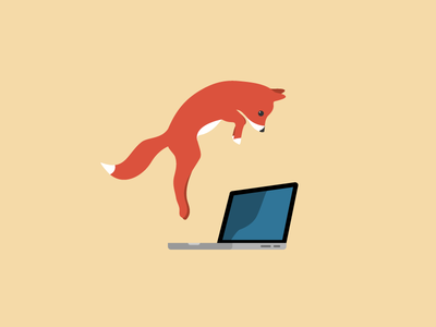 Design Pitfall Nr. 03 - Don't jump in too quickly illustration flat fox jump the quick brown fox tips sketch