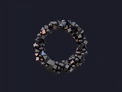O.1 3d art c4d infinity letterform kinetic motion typography type animation