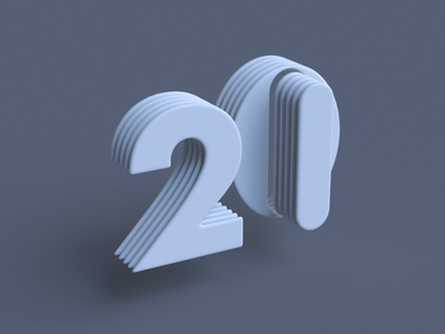 20→21 new year 2021 holidays 3d art letterform c4d motion kinetic type typography animation