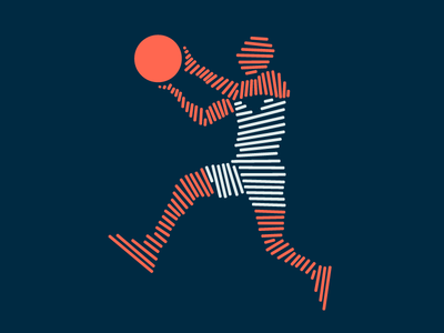 Rhythm - Part III lines sports jazz illustration branding basketball layup