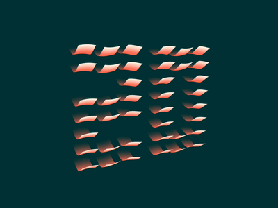 20〜20 text grid c4d 2020 new year holidays 3d wave illustration letterform kinetic motion typography type animation