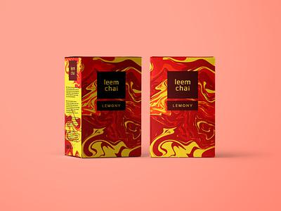 LeemChai | Tea Packaging Design chai illustrator photoshop packaging design package design packaging pack package mockups mockup modern tea ai branding icon baku lineart design vector illustration