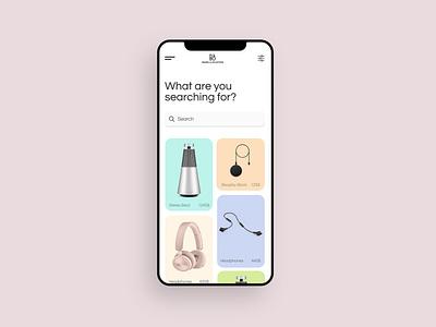 Bang&Olufsen Mobile App app ui minimal design flat mobile